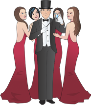 Text Weapon Master of Disaster Surrounded By Women