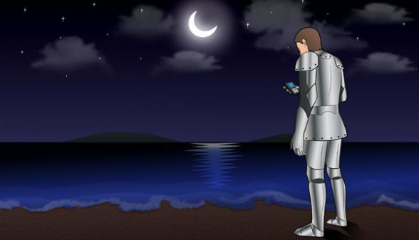 flirty good night texts sent by knight