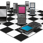 Mobile Phones Checkerboard