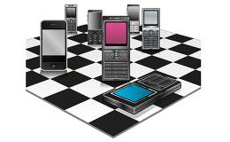 Mobile Phones Checkerboard